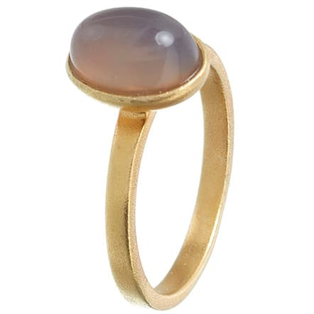 Image of   Spinning Jewelry ring - Moon - Forgyldt sterlingsølv