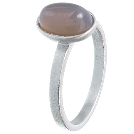 Image of   Spinning Jewelry ring - Moon - Rhodineret sterlingsølv