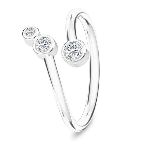 Image of   Spinning Jewelry ring - Orion - Rhodineret sterlingsølv