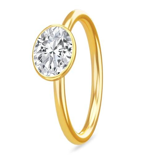Image of   Spinning Jewelry ring - Sparkling - Forgyldt sterlingsølv