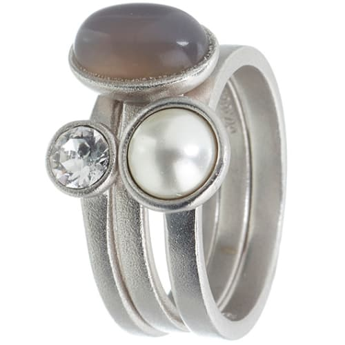 Image of   Spinning Jewelry ring - Sweet Pearl - Rhodineret sterlingsølv