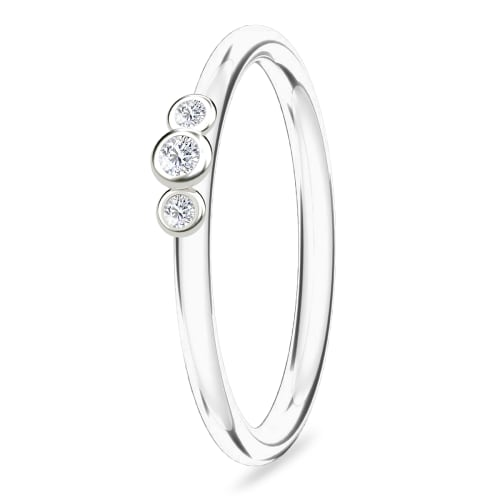 Image of   Spinning Jewelry ring - Trio - Rhodineret sterlingsølv