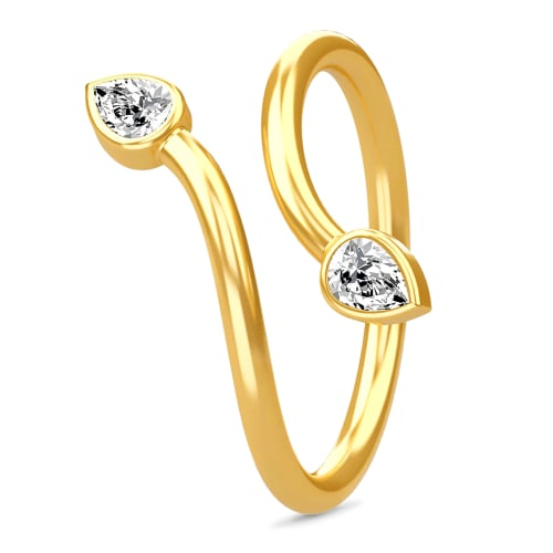 Image of   Spinning Jewelry ring - Twin - Forgyldt sterlingsølv