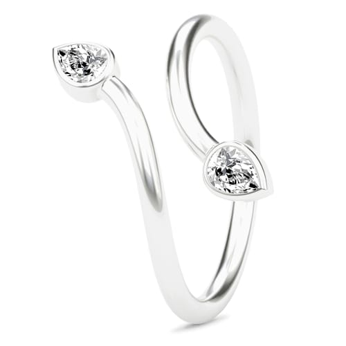 Image of   Spinning Jewelry ring - Twin - Rhodineret sterlingsølv