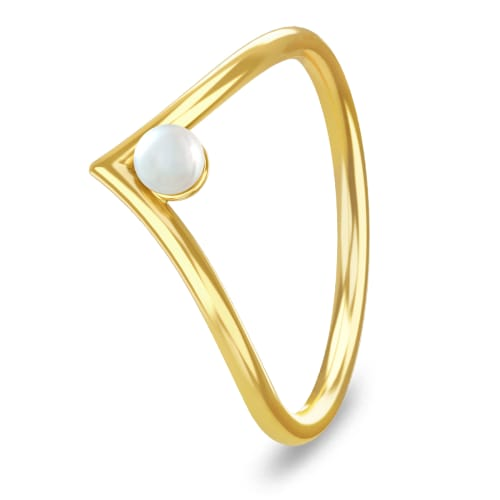 Image of   Spinning Jewelry ring - Victory pearl - Forgyldt sterlingsølv