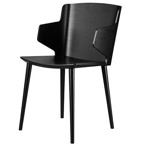 Image of   Tom Stepp stol med armlæn - J155 Yak - Sort
