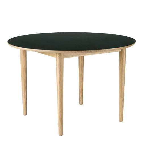 Image of   Unit10 spisebord - C62 Bjørk - Eg/grøn linoleum