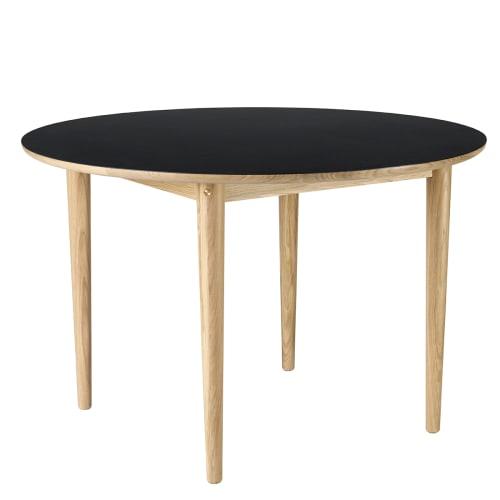 Image of   Unit10 spisebord - C62 Bjørk - Eg/sort linoleum