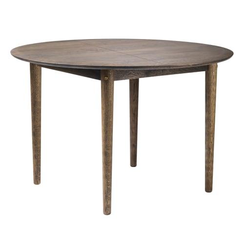 Unit10 spisebord med udtræk - C62E Bjørk - Røget Eg