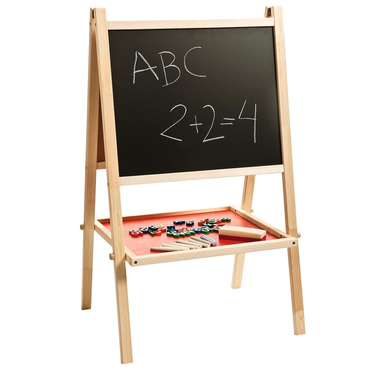 Kan bruges som kridttavle, whiteboard og magnettavle