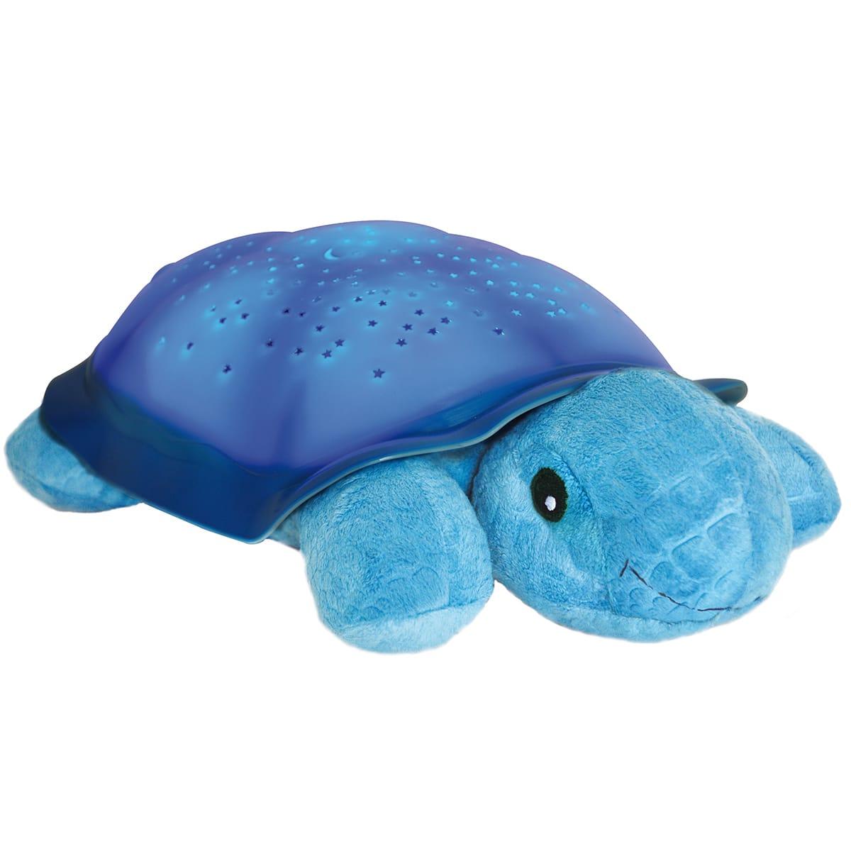 Lysende skildpadde der indhyller børneværelset i en stjernehimmel