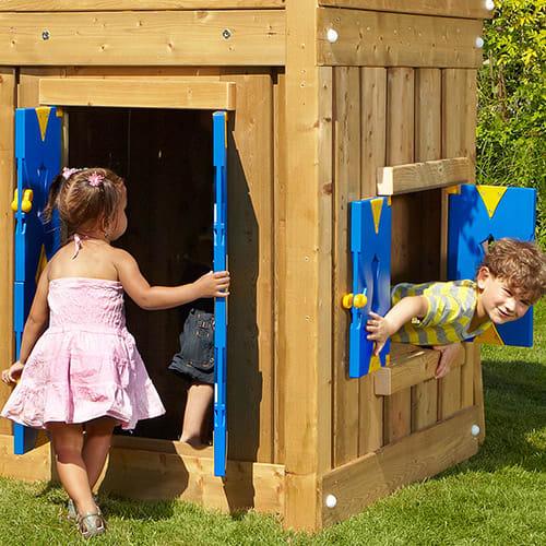 Dør og vindue til Jungle Gym legetårne med en højde på 145 cm