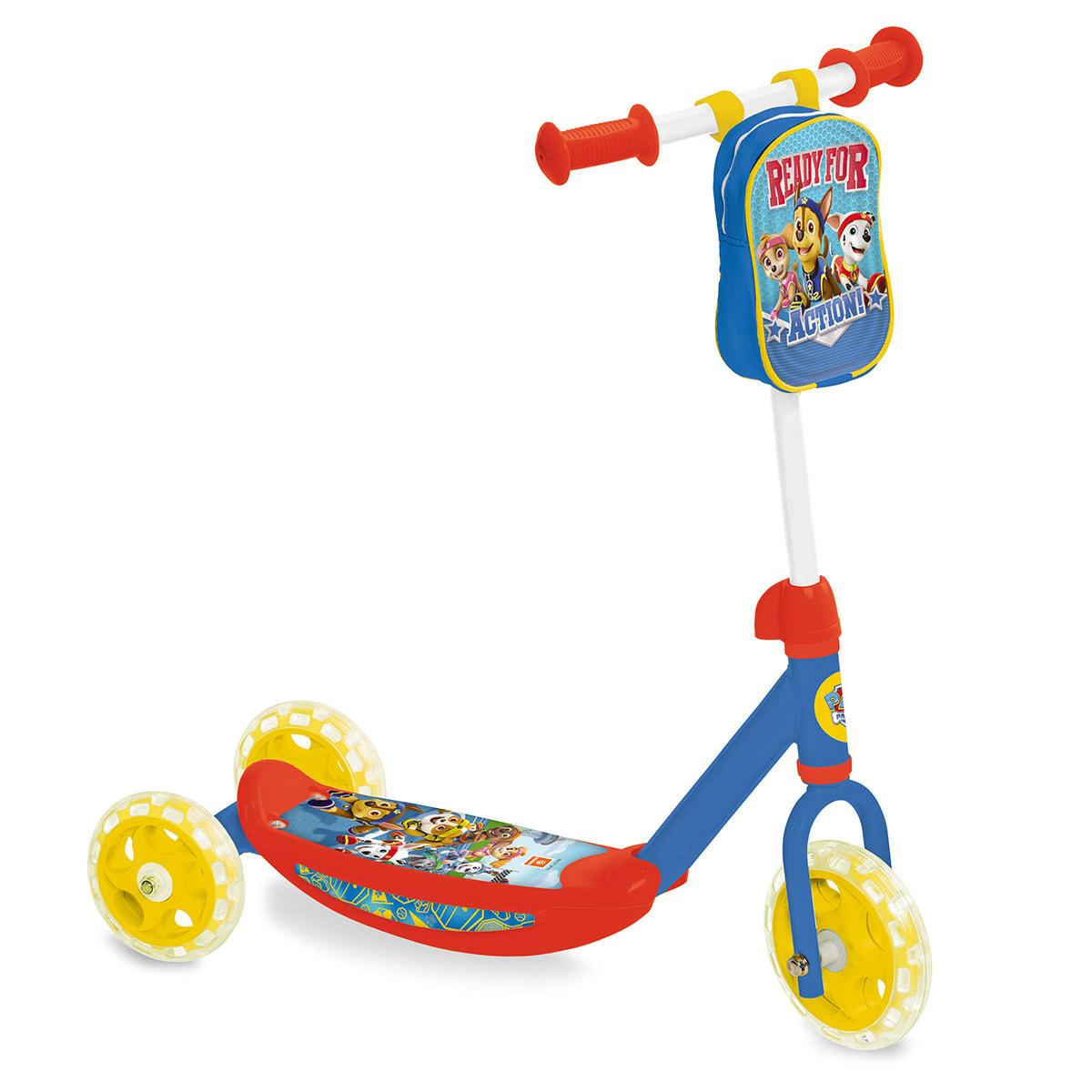 Løbehjul med tre hjul, så de mindste nemmere kan holde balancen