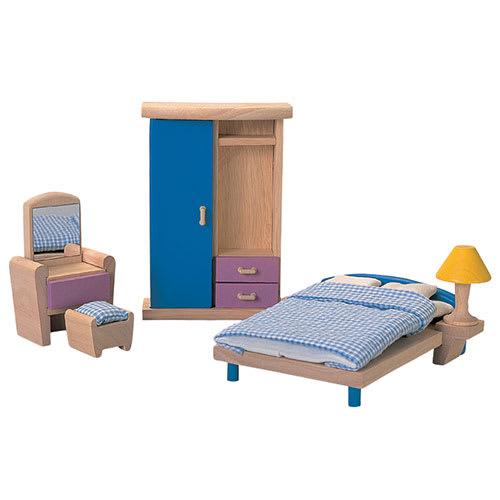 Bæredygtigt træsoveværelse - Inkl. seng, lænestol og klædeskab