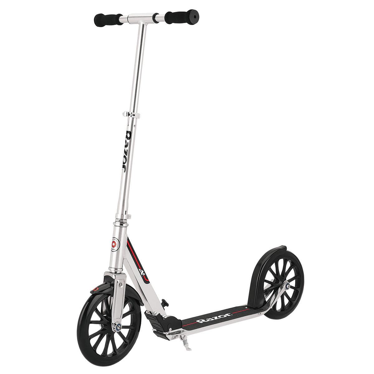 Foldbar løbehjul med støttefod, ekstra store hjul og anti-ryste system