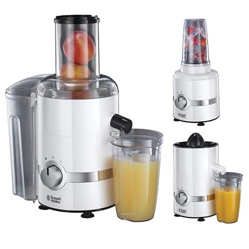 Kombineret citronpresser, juicer og blender
