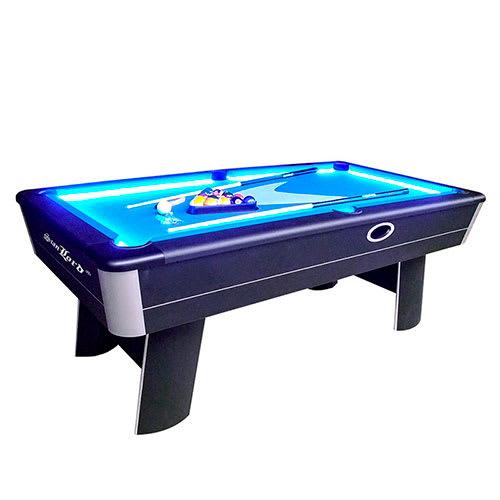 Sejt poolbord med LED belysning og automatisk tilbageløb