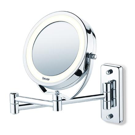 Smart væghængt spejl med LED lys og 5 x forstørrelse