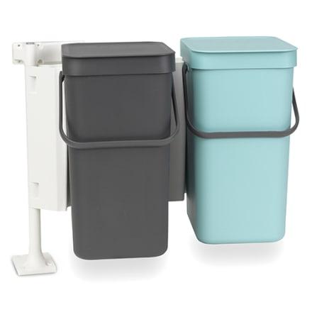 2 x 12 liter - Smart affaldssortering til hjemmet