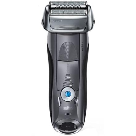 Inkl. praktisk og hygiejnisk rensestation - Smalt barberhoved