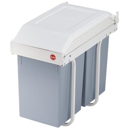 2 x 15 liter - Praktisk affaldssortering til montering i køkkenskabet
