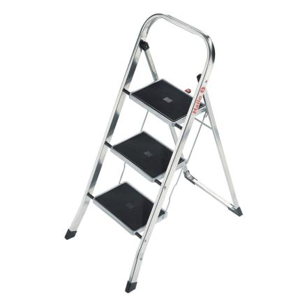 Foldbar stige med 3 skridsikre trin