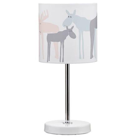 Fin bordlampe med elge - H 33 x Ø 15 cm