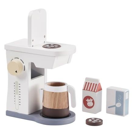 Til den lille hjemmebarista - Inkl. kaffemaskine og -kande, mælk, m.m.