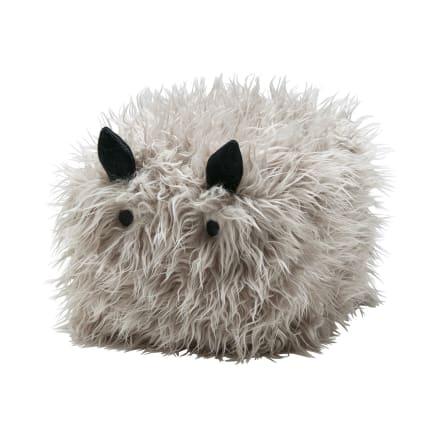 Fluffy lille siddepuf til familiens mindste - L 35 x B 30 x H 23 cm