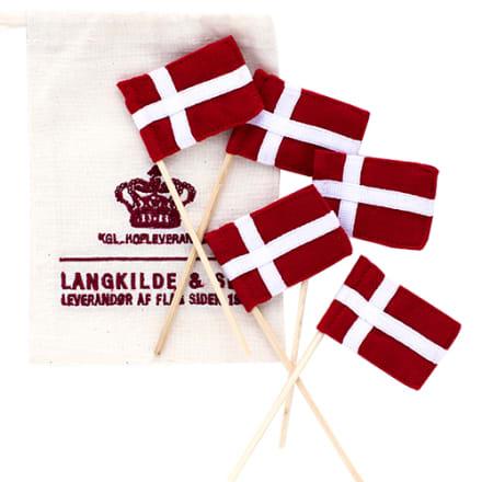 3,5 x 5 cm flag på 13 cm bambuspind