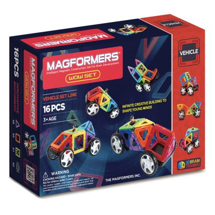 Kreativt magnetisk legetøj - Byg biler og figurer i 3D
