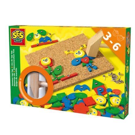 Skab sjove figurer på korkpladen med de farverige brikker