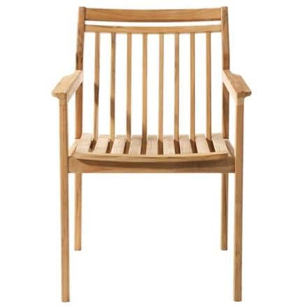 FDB Møbler - Let og komfortabel armstol i teak