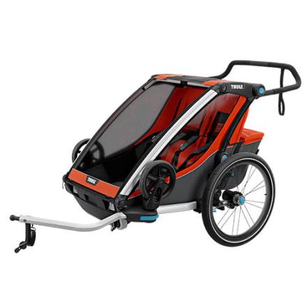 Cykeltrailer / klapvogn til 2 børn - Perfekt til den aktive familie