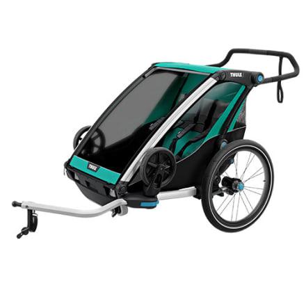 Cykelanhænger / klapvogn til 2 børn - Perfekt til den aktive familie
