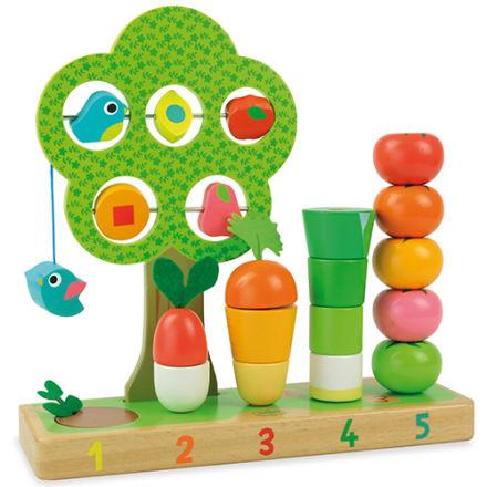 Lær om tal, farver og køkkenhavens grøntsager