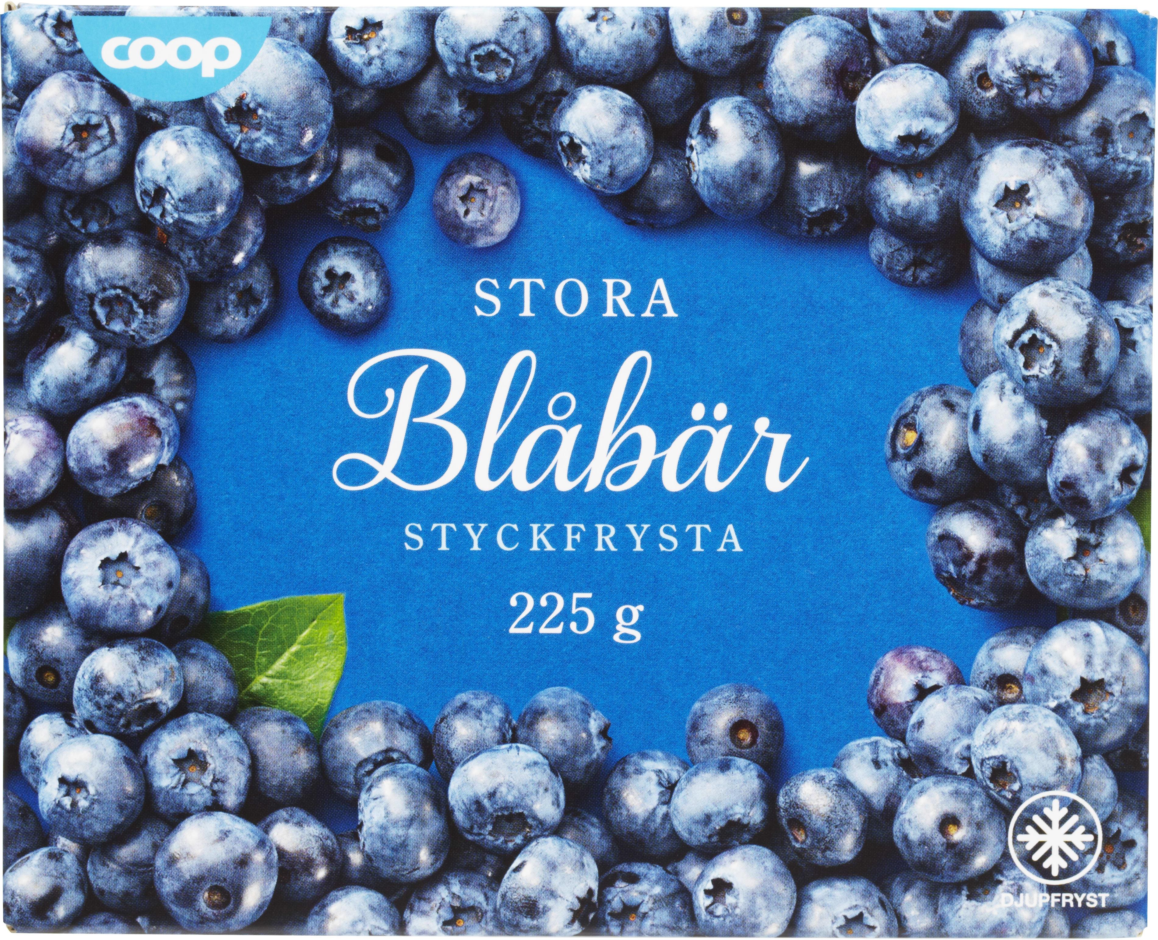 stora odlade blåbär