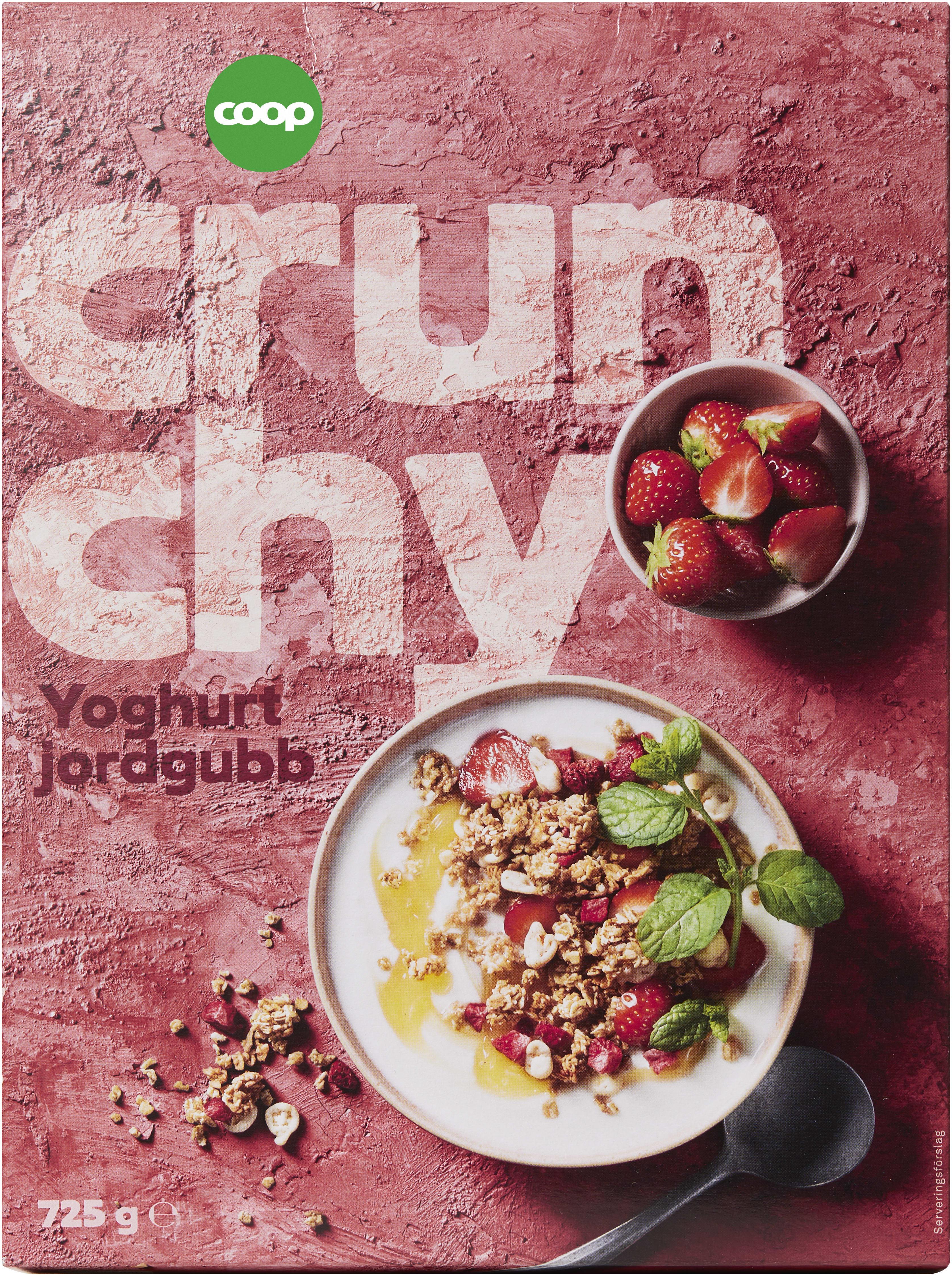 crunchy jordgubb yoghurt
