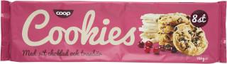 Cookies Vit Choklad Med Tranbär