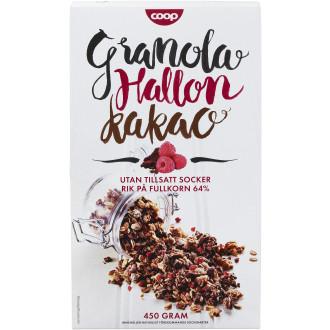 coop granola hallon kakao