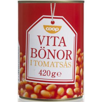 vita bönor i tomatsås pris