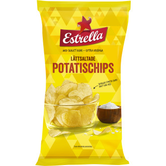 Potatischips Lättsaltade