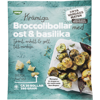 Broccolibollar Ost & Basilika