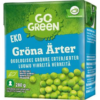 torkade gröna ärtor go green