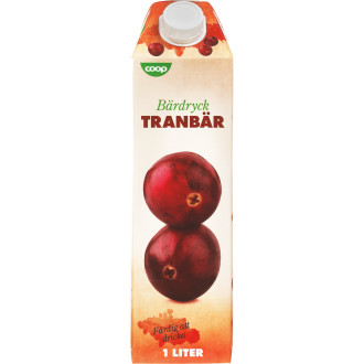 tranbärsdryck utan socker
