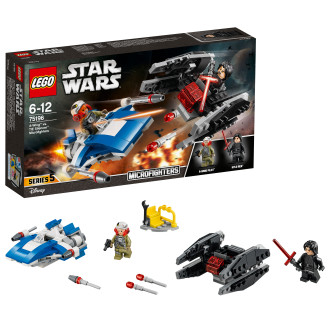 Lego Star Wars Tm 75196, A-Wing Vs. Tie Silencer Microfighters