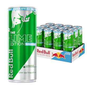 Energidryck Lime Sugar Free Red Bull 12-Pack