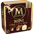 Glass Magnum Mini Classic Almond White 6-Pack