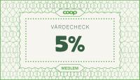 Värdecheck 5%