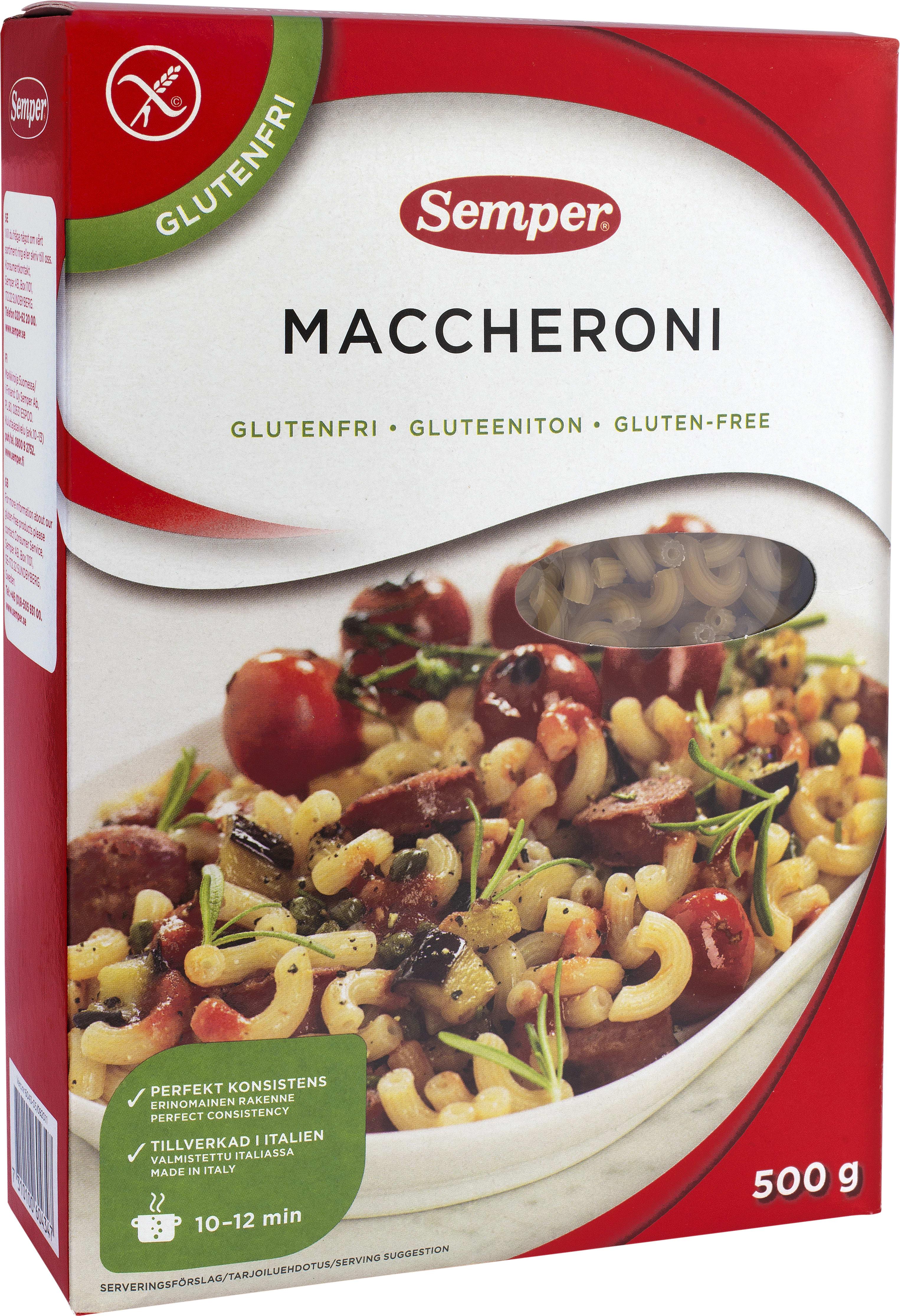 Glutenfri pasta ingredienser